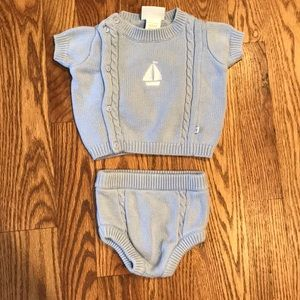 Little Me Signature Newborn Sweater Outfit
